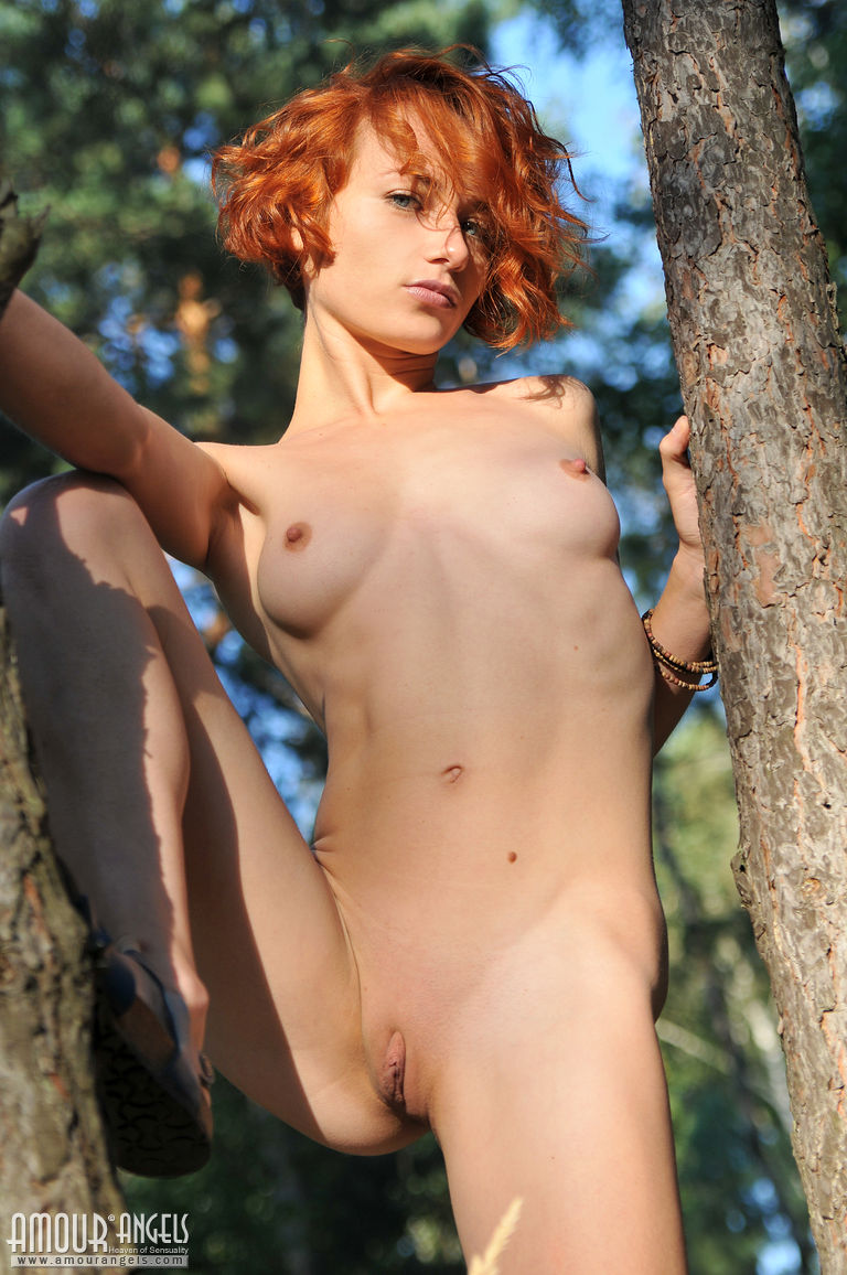woman with hairy vagina